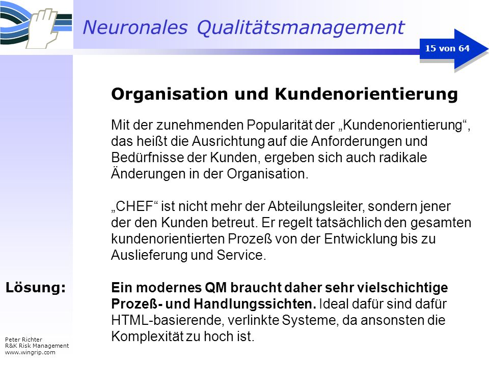 Organisation und Kundenorientierung