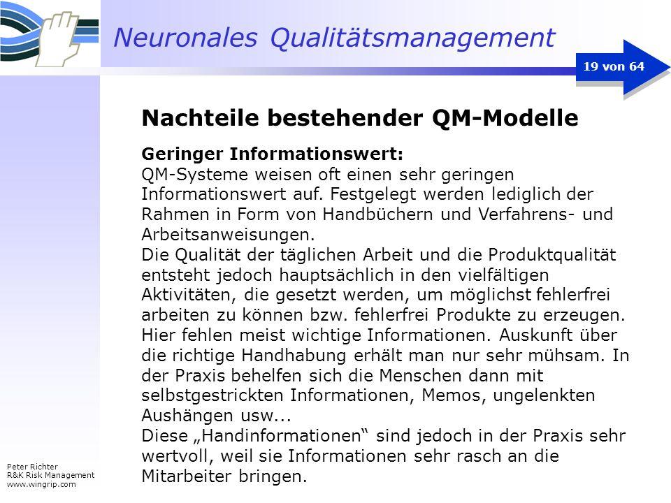 Nachteile bestehender QM-Modelle