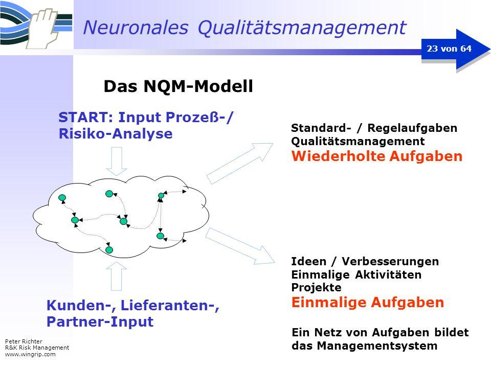 Das NQM-Modell START: Input Prozeß-/ Risiko-Analyse