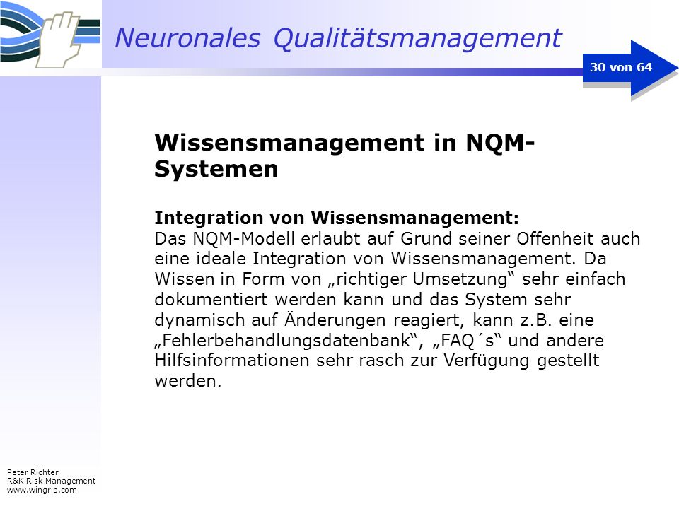 Wissensmanagement in NQM-Systemen