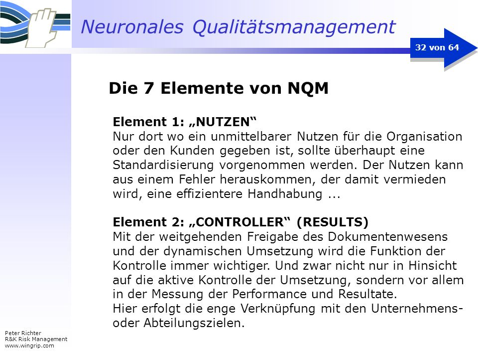 """Die 7 Elemente von NQM Element 1: """"NUTZEN"""