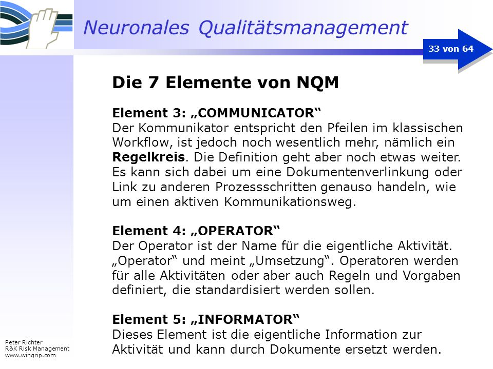 "Die 7 Elemente von NQM Element 3: ""COMMUNICATOR"