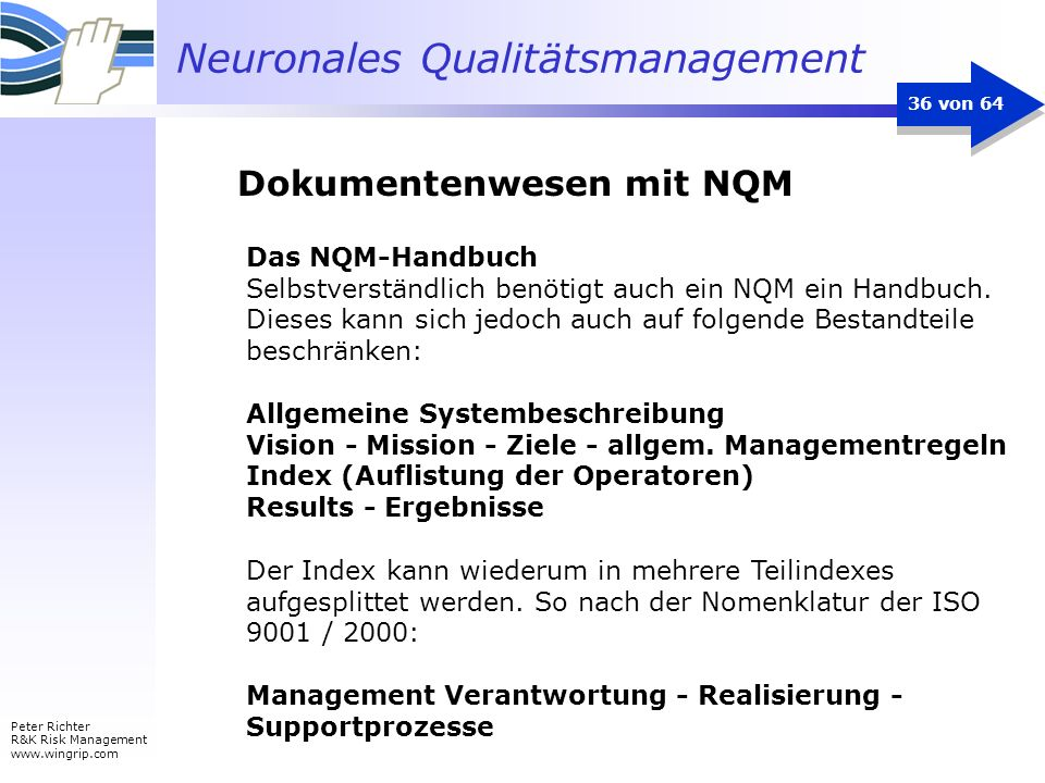 Dokumentenwesen mit NQM