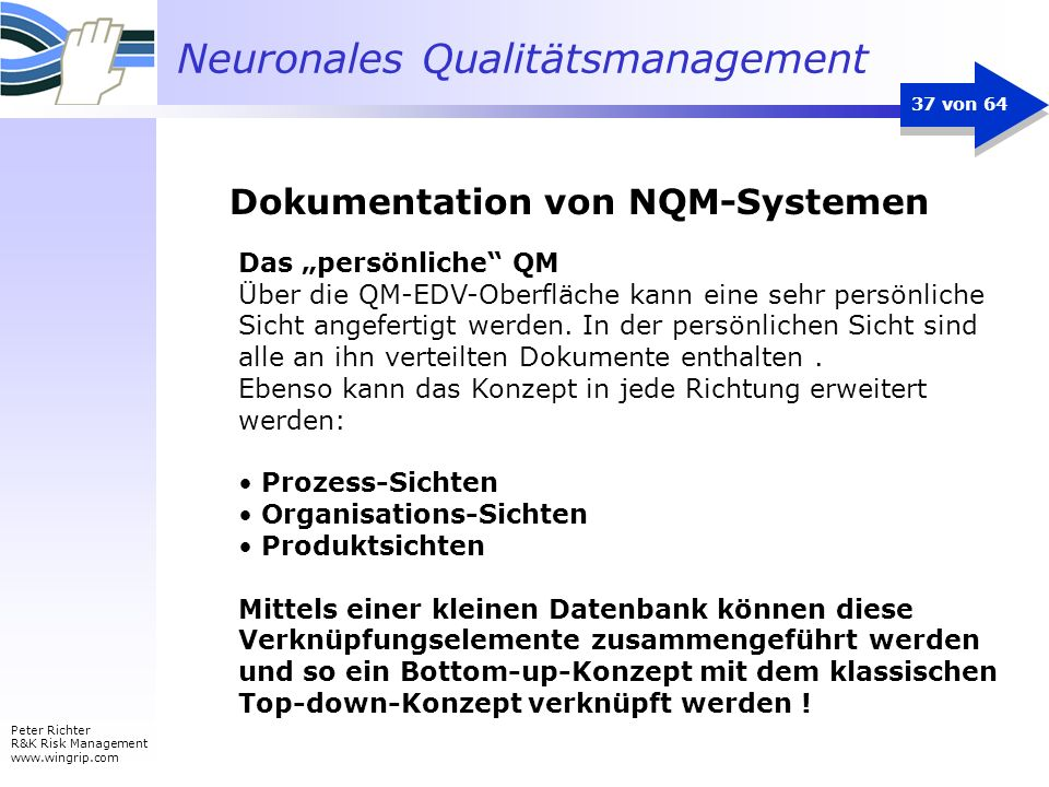 Dokumentation von NQM-Systemen