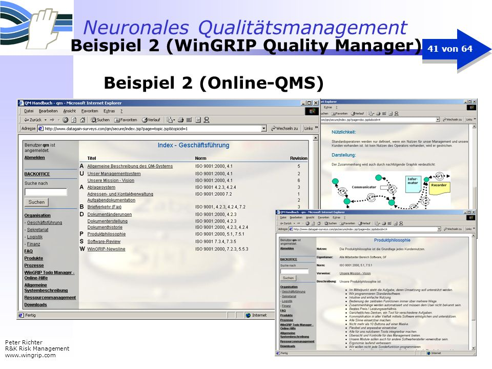 Beispiel 2 (WinGRIP Quality Manager)
