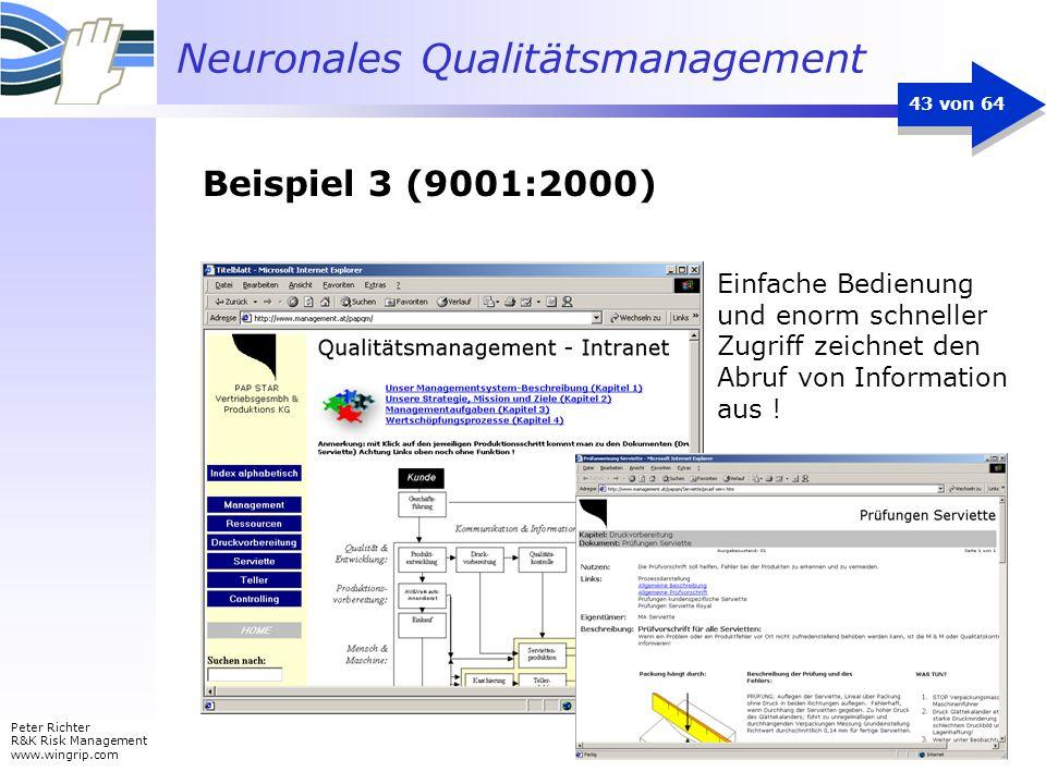 Beispiel 3 (9001:2000) Einfache Bedienung und enorm schneller Zugriff zeichnet den Abruf von Information aus !