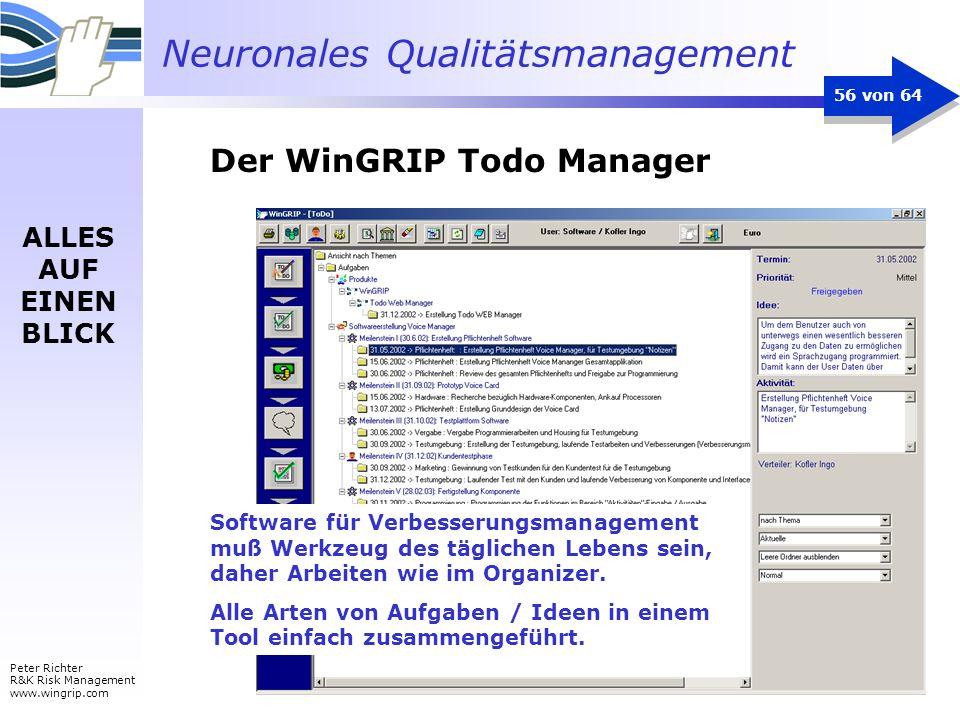 Der WinGRIP Todo Manager