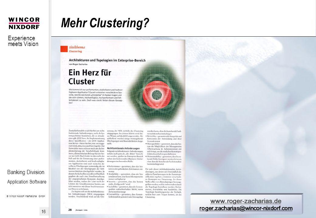 Mehr Clustering www.roger-zacharias.de