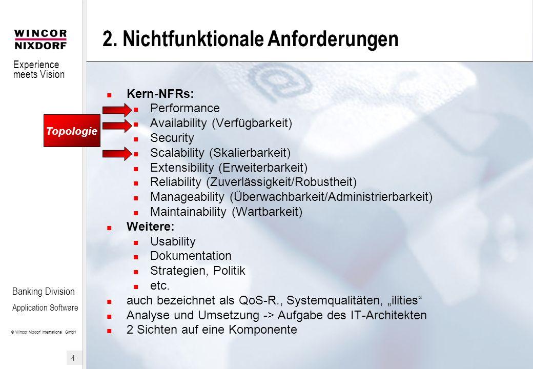2. Nichtfunktionale Anforderungen