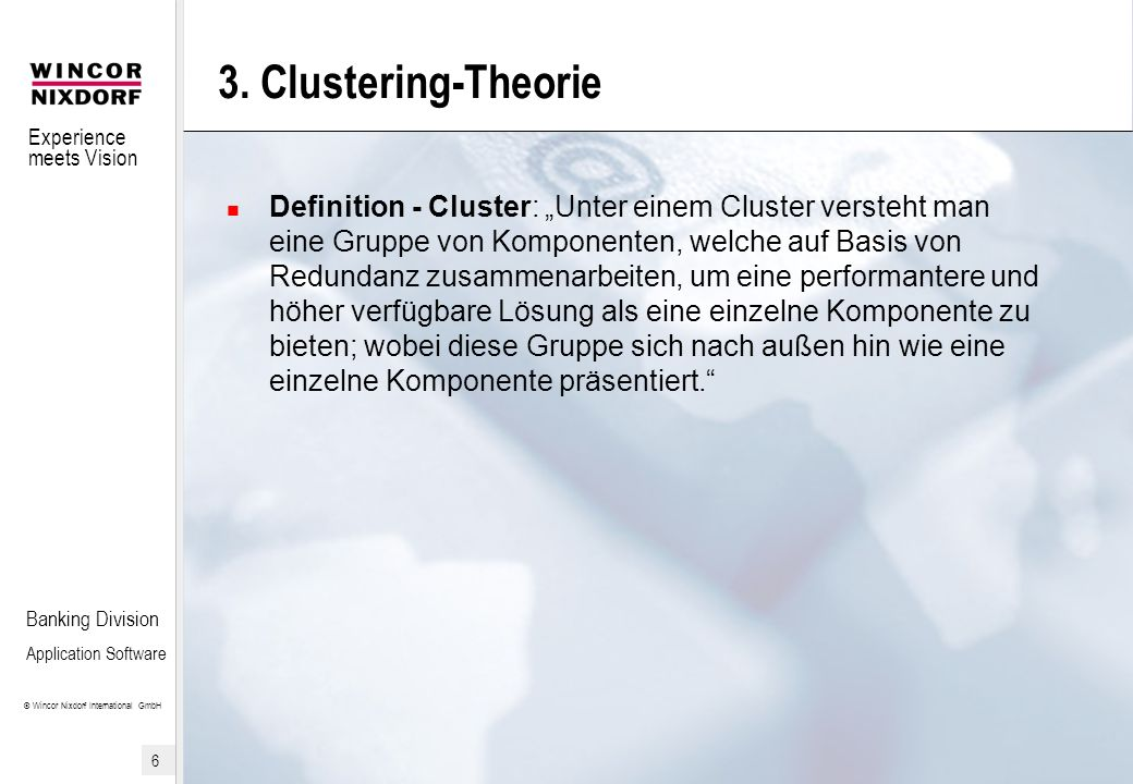 3. Clustering-Theorie