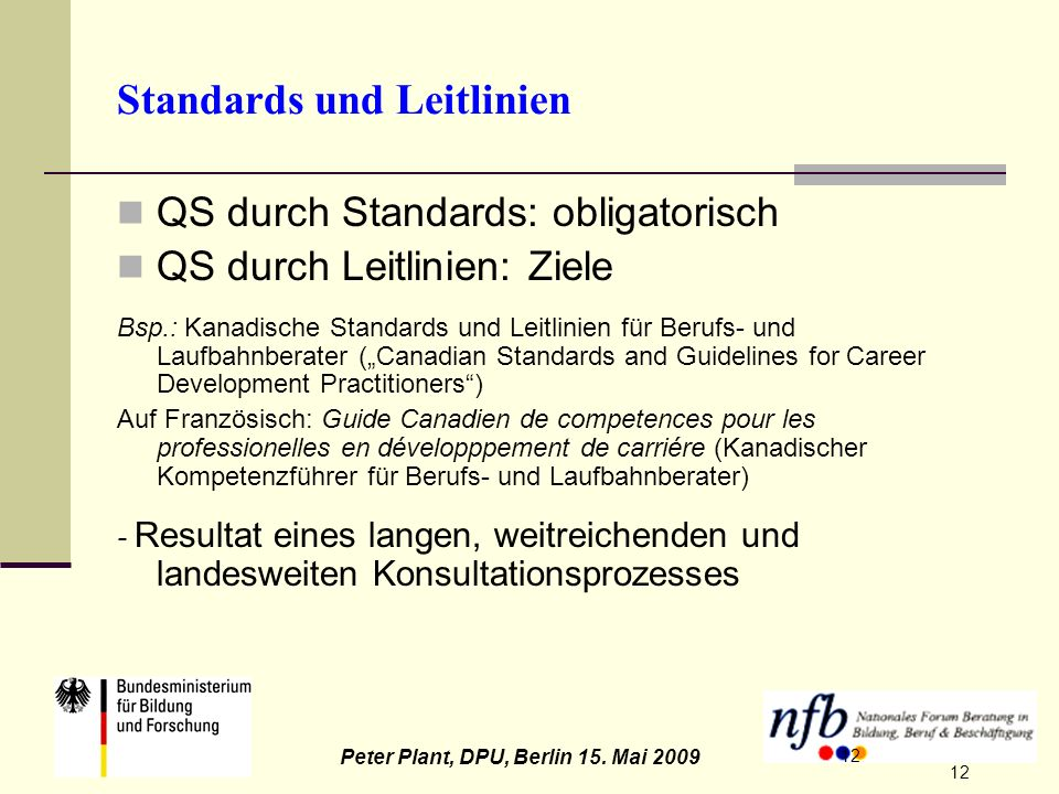Standards und Leitlinien