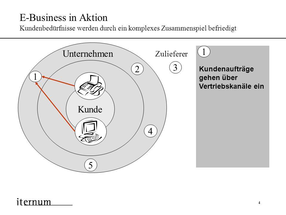 E-Business in Aktion Kundenbedürfnisse werden durch ein komplexes Zusammenspiel befriedigt