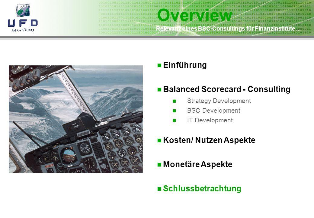 Overview Einführung Balanced Scorecard - Consulting