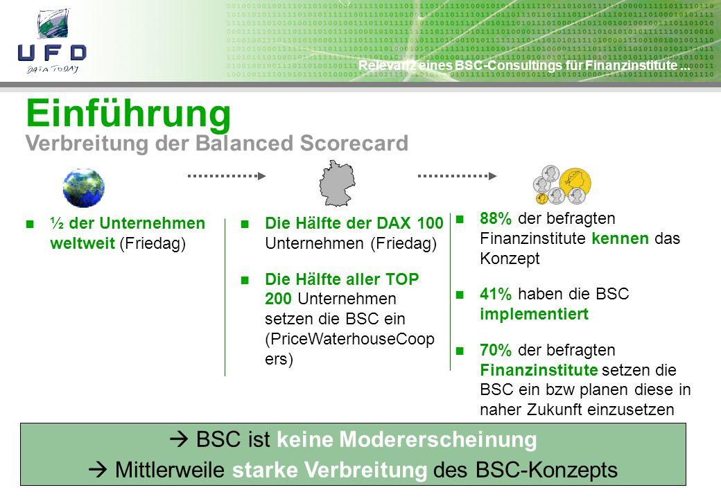 Einführung Verbreitung der Balanced Scorecard