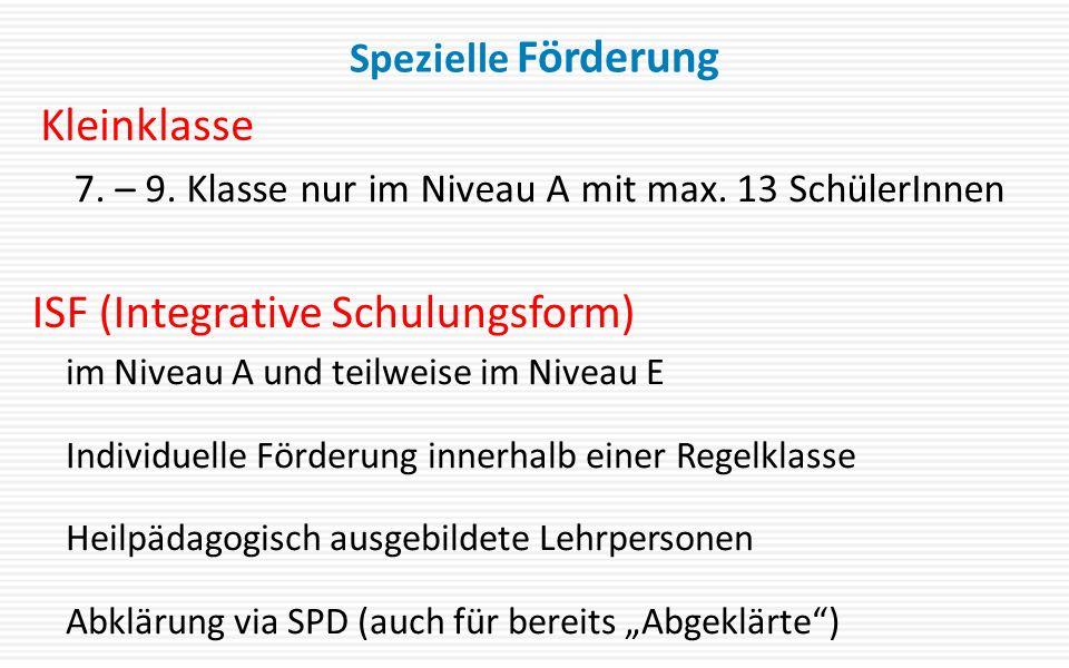 ISF (Integrative Schulungsform)