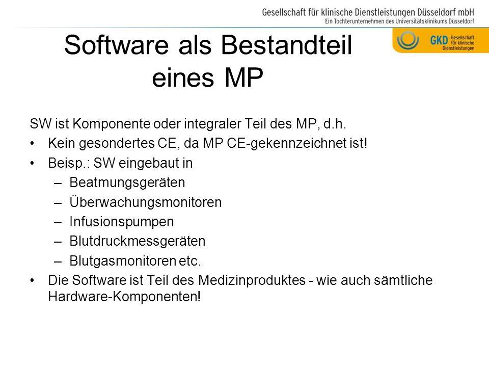 Software als Bestandteil eines MP
