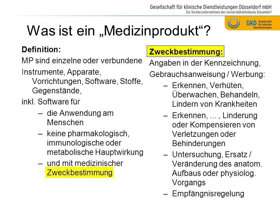 """Was ist ein """"Medizinprodukt"""