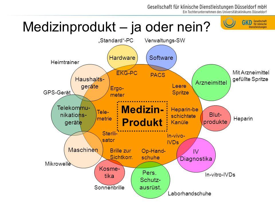 Medizinprodukt – ja oder nein