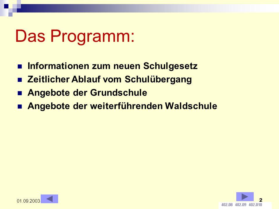 Das Programm: Informationen zum neuen Schulgesetz
