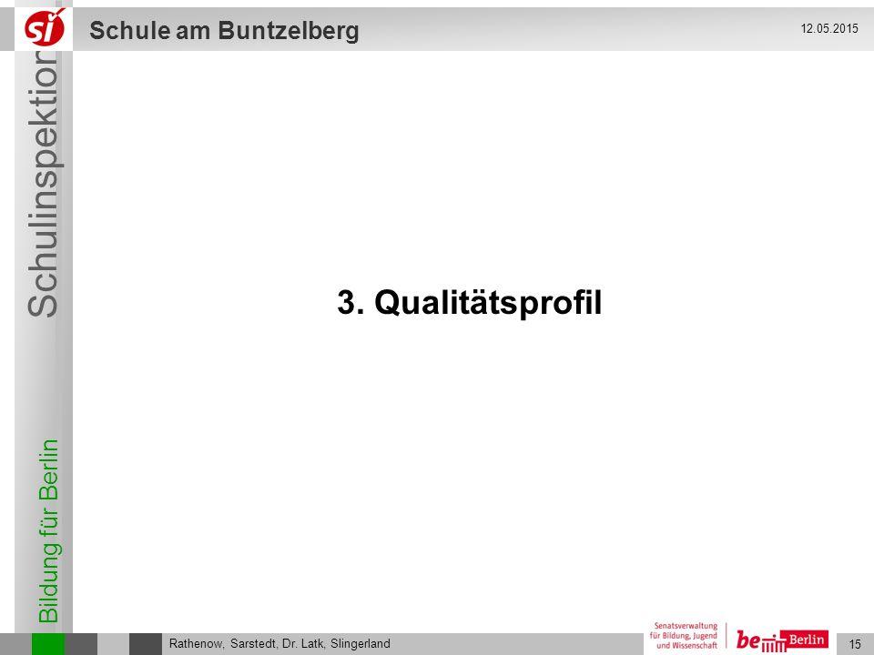 12.05.2015 3. Qualitätsprofil Rathenow, Sarstedt, Dr. Latk, Slingerland