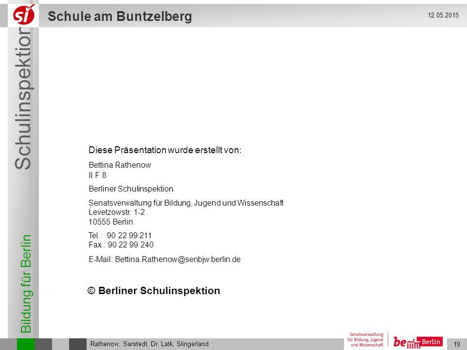 © Berliner Schulinspektion