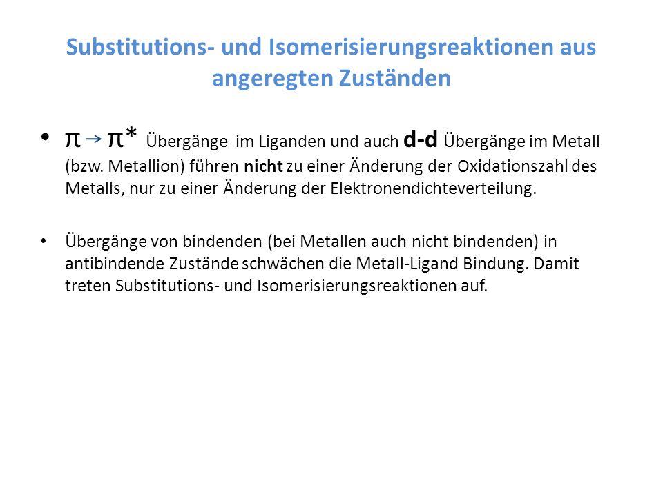 Substitutions- und Isomerisierungsreaktionen aus angeregten Zuständen