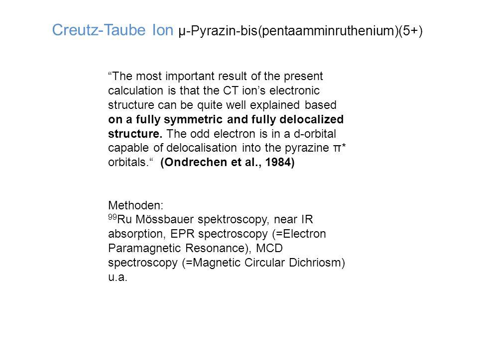 Creutz-Taube Ion µ-Pyrazin-bis(pentaamminruthenium)(5+)