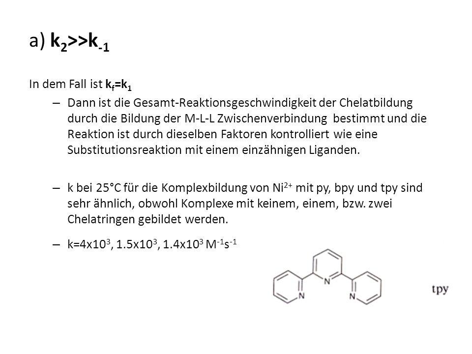 a) k2>>k-1 In dem Fall ist kf=k1