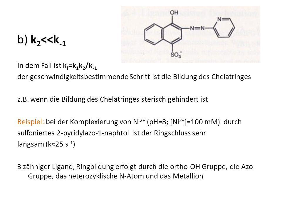 b) k2<<k-1 In dem Fall ist kf=k1k2/k-1