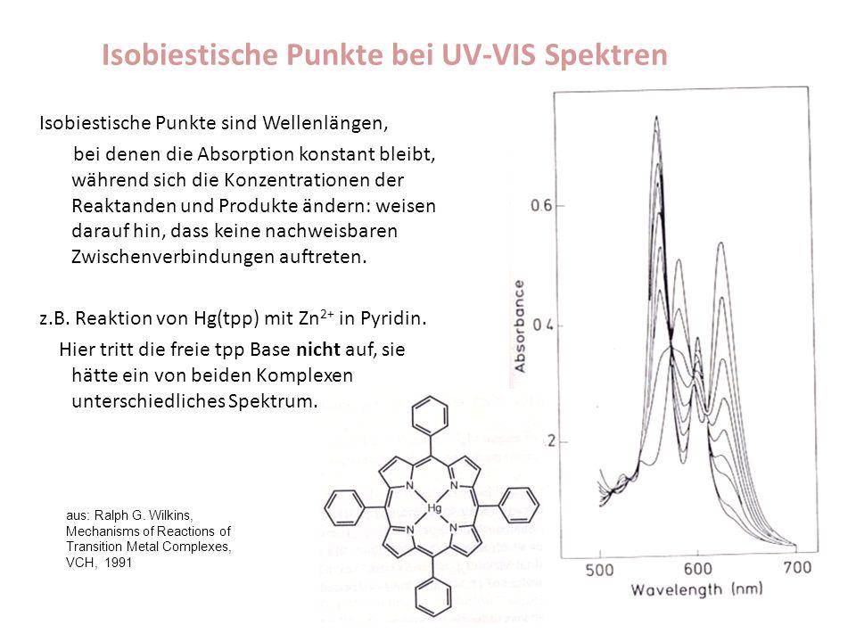 Isobiestische Punkte bei UV-VIS Spektren