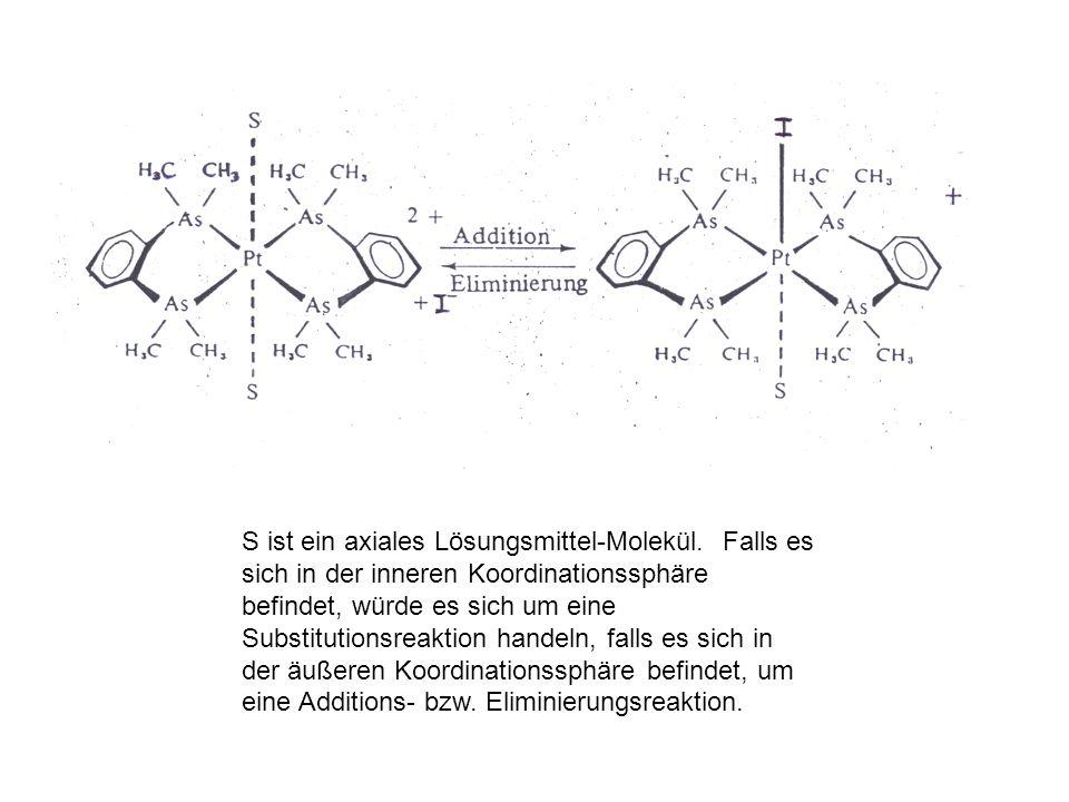 S ist ein axiales Lösungsmittel-Molekül