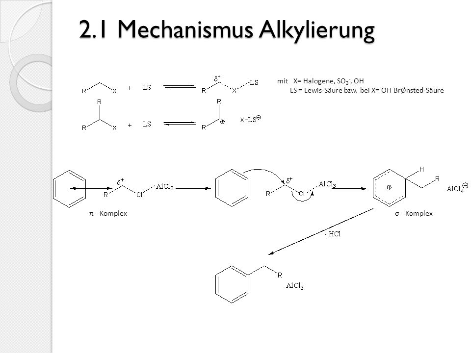 2.1 Mechanismus Alkylierung