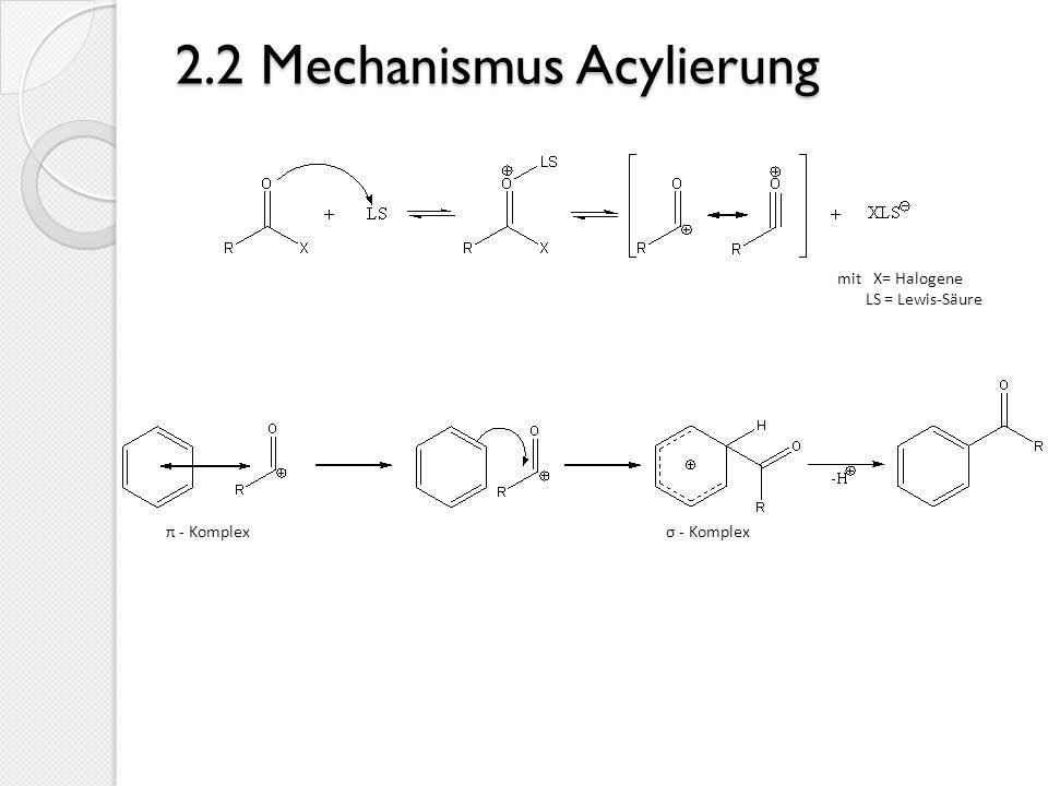2.2 Mechanismus Acylierung