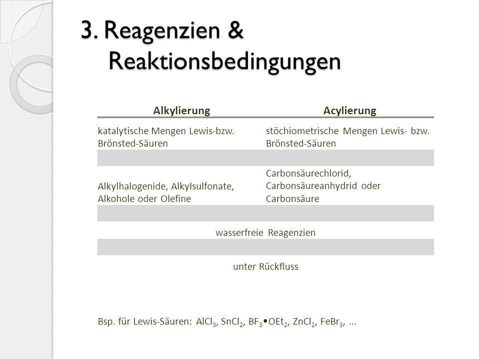 3. Reagenzien & Reaktionsbedingungen