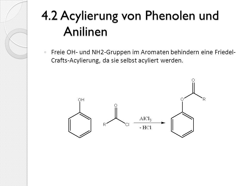 4.2 Acylierung von Phenolen und Anilinen