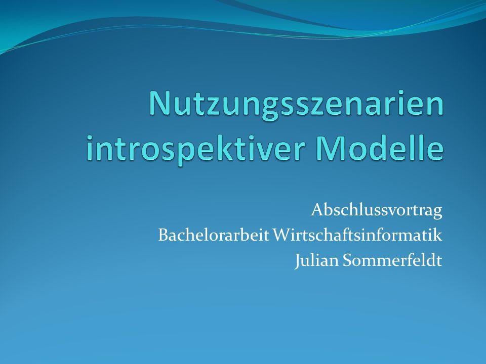 Nutzungsszenarien introspektiver Modelle