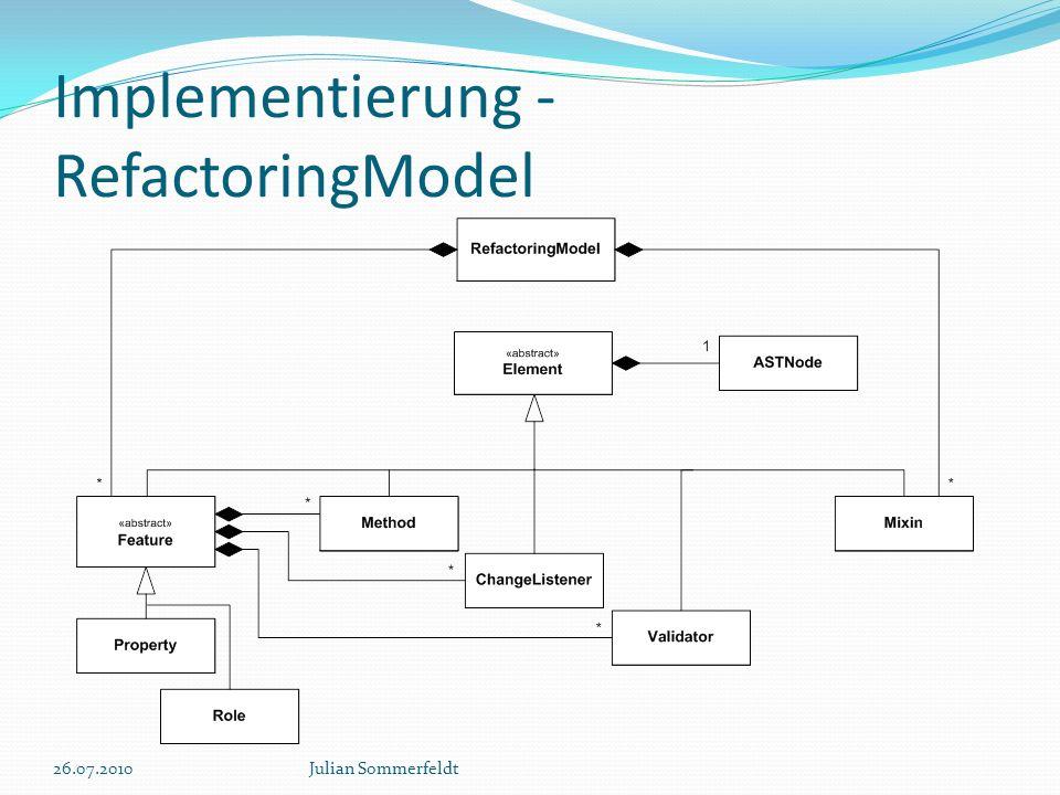 Implementierung - RefactoringModel