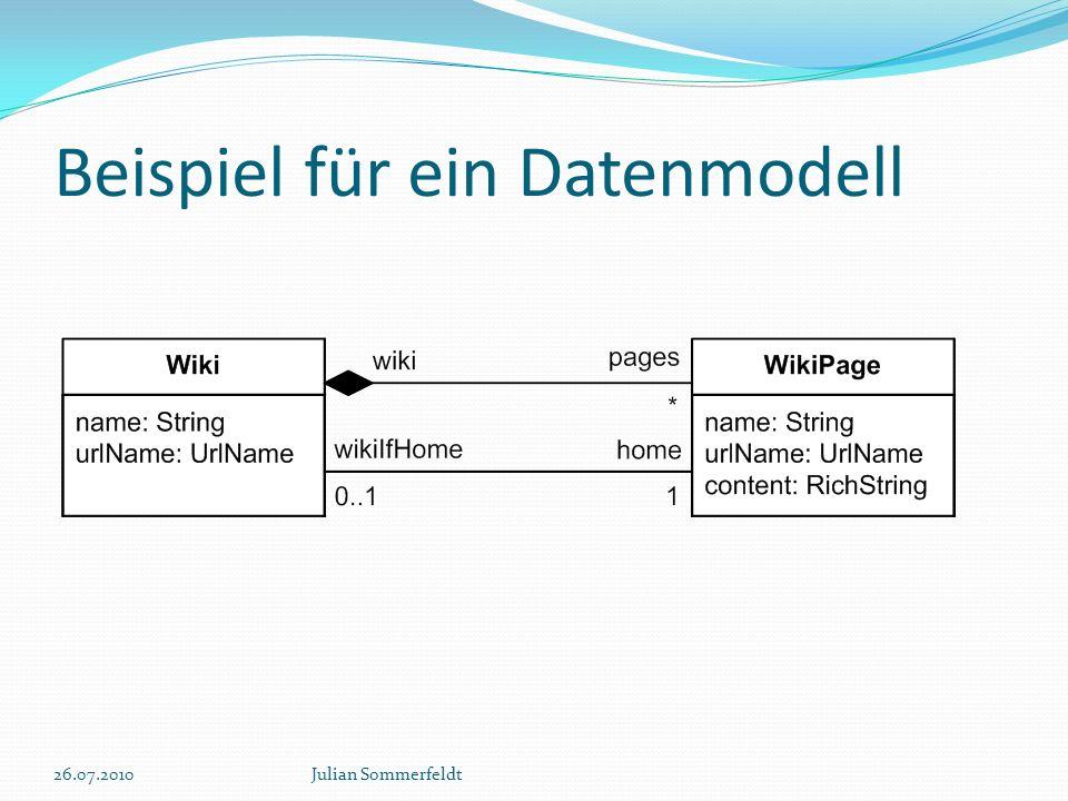 Beispiel für ein Datenmodell