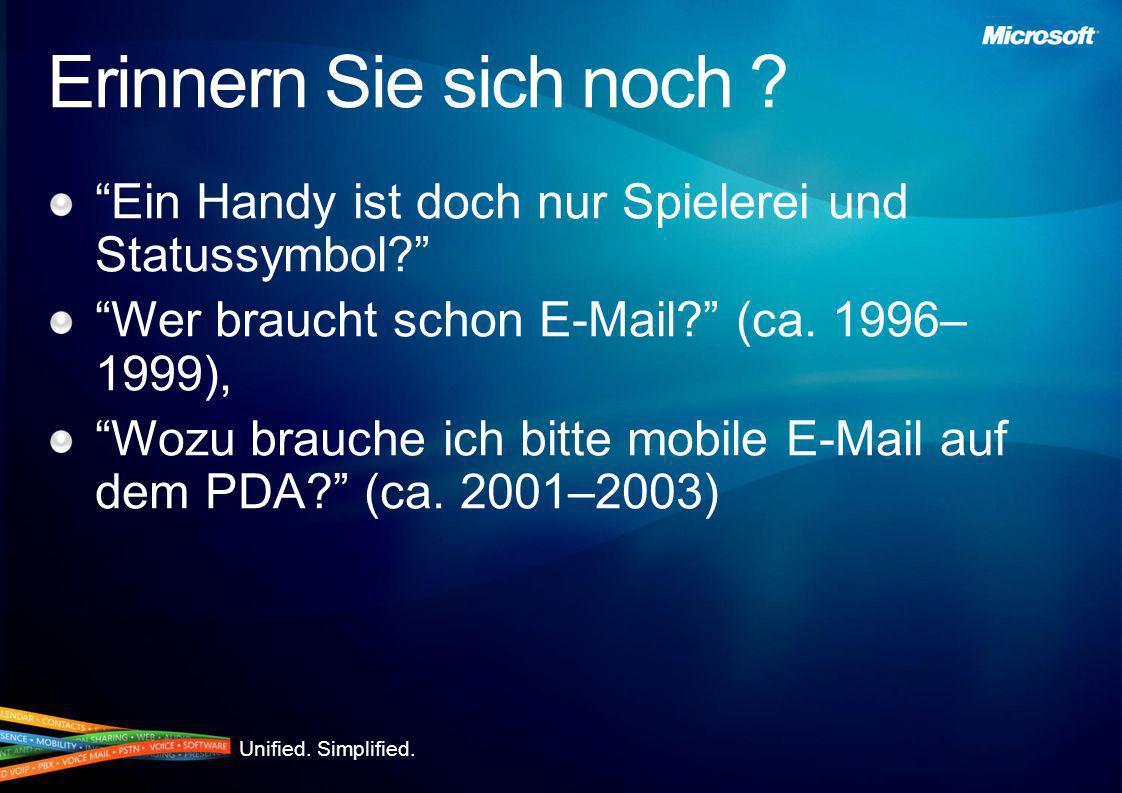 Erinnern Sie sich noch Ein Handy ist doch nur Spielerei und Statussymbol Wer braucht schon E-Mail (ca. 1996–1999),