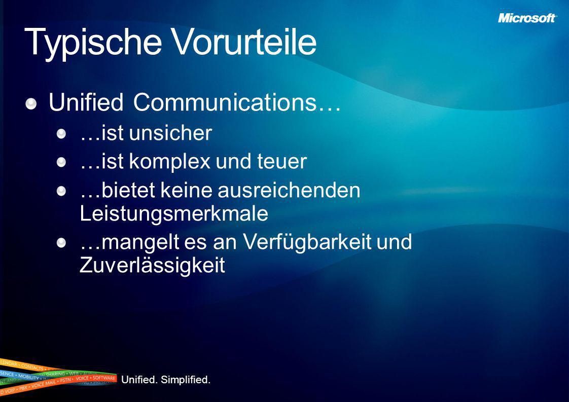 Typische Vorurteile Unified Communications… …ist unsicher