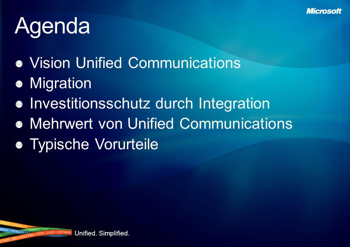 Agenda Vision Unified Communications Migration