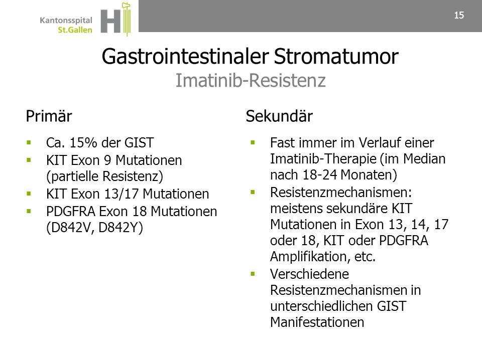 Gastrointestinaler Stromatumor Imatinib-Resistenz