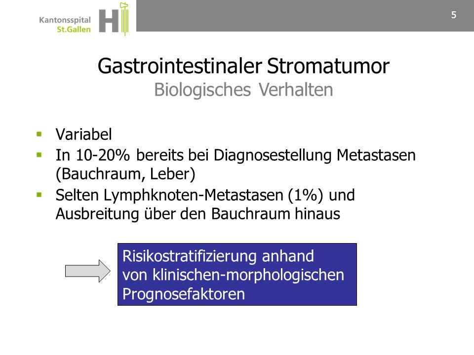 Gastrointestinaler Stromatumor Biologisches Verhalten