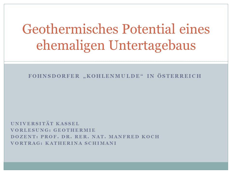 Geothermisches Potential eines ehemaligen Untertagebaus