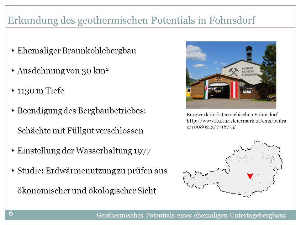 Erkundung des geothermischen Potentials in Fohnsdorf