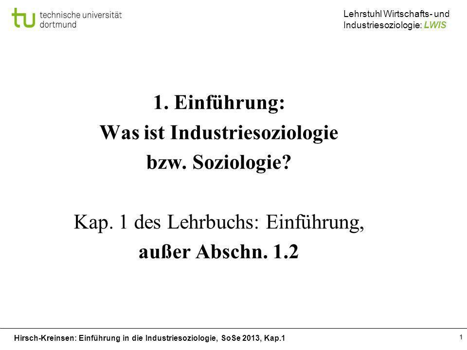 Was ist Industriesoziologie