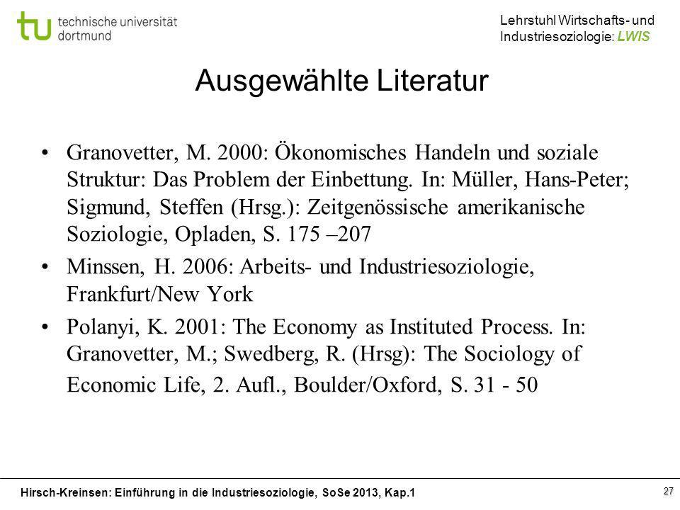 Ausgewählte Literatur