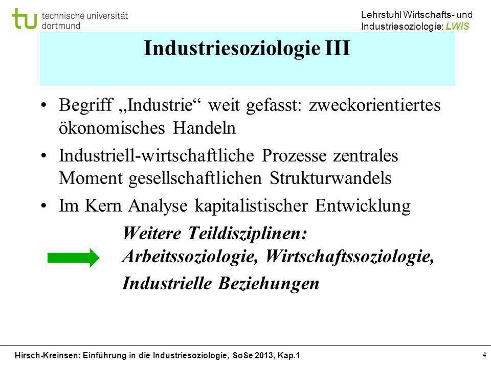 Industriesoziologie III