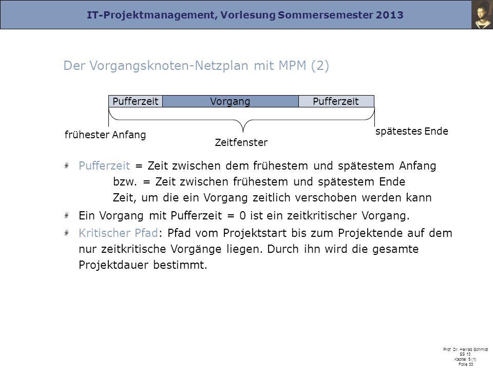Der Vorgangsknoten-Netzplan mit MPM (2)