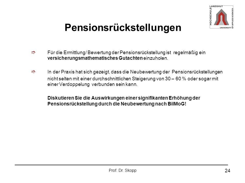 Pensionsrückstellungen